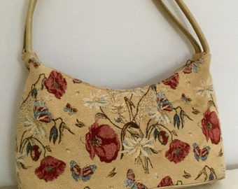 Tapestry Bag - Flemish Tapestries - Vintage Tapestry Purse