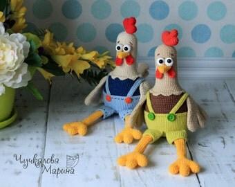 Kukaresha rooster PDF crochet toy pattern
