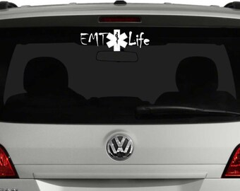 EMT Life Vinyl Decal for Vehicle Auto Car