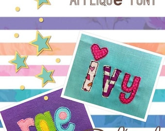 ITH Playtime Raggy Applique Font DIGITAL Embroidery Design