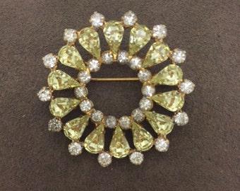 Rhinestone circle pin