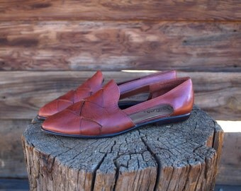 Timeless Vintage Westies Brazilian Brown Leather Sandals 7.5