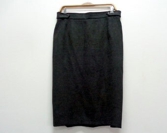 Pencil Skirt, Fitted Skirt, Frankenwälder Skirt, Grey  Pencil Midi Skirt, Frankenwälder Germany, office skirt, Size 44