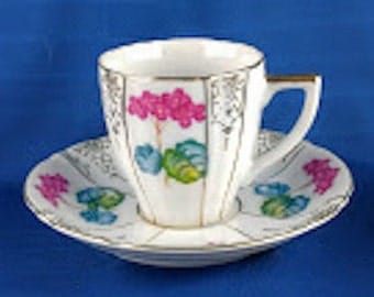 Occupied Japan Ucagco China Demitasse Cup And Saucer