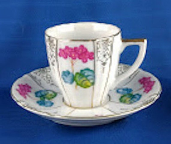 occupied japan ucagco china demitasse cup and saucer. Black Bedroom Furniture Sets. Home Design Ideas