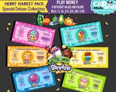 INSTANT DOWNLOAD || Play Money || Shopkins Merry Markey Collection [[ Play money- 300 DPI]]