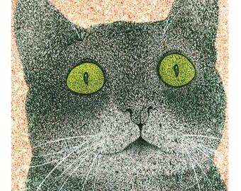 Cat Illustration (Print)