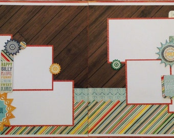 The Genuine Article Kit - Pre-cut 2-Page 12x12 Scrapbook  Layout DIY Kit