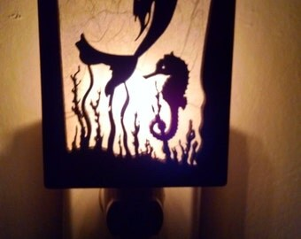 Mermaid and Seahorse Night Light