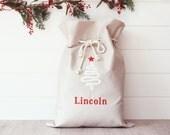 CIJ Personalised Santa Sack with Christmas Tree