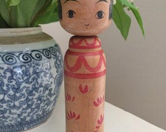 Adorable Vintage Japanese Togatta Kokeshi Doll by Abe Shinya
