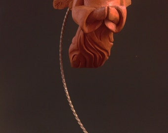 Flying Angel, wood carving