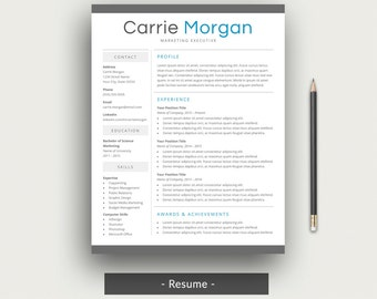 professional resume template for word cv template simple resume design ms word resume templates mac or pc instant digital download