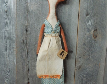 Foxy Fox Primitive Cloth Doll