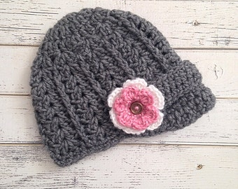 Crochet Girl Newsboy Hat, Baby, Toddler, Child, Adult Newsboy Hat, Newsgirl Beanie, Photo Prop Hat, Baby Girl Crochet Hat, MADE TO ORDER!