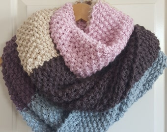 Neapolitan seed stitch cowl (100% wool)