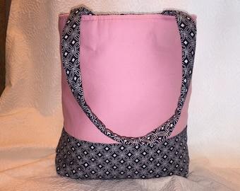 Pink large tote