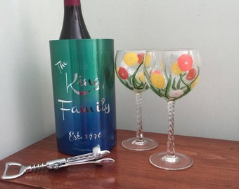 Personalized Wine Chiller | Champagne Bucket | Unique Wedding Gift | Custom Wedding Gift | House Warming Gift | Drink Bucket