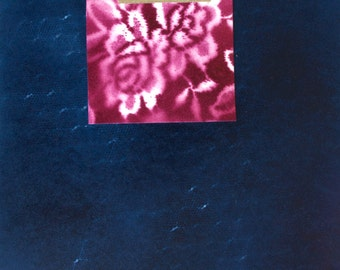 Blueb Original Paper Painting