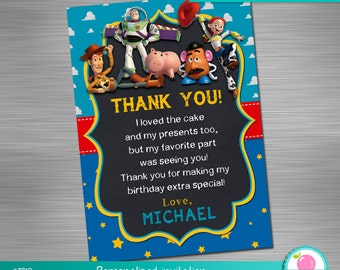 Toy Story Print Yourself thank you card, Toy Story Birthday thank you card, Toy Story Party thank you card DIY