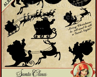 Christmas svg, North Pole svg,  Santa svg, Elf Svg, Santa Sack,  Cutting File  ai,png, eps, png, dxf, Mrs Claus, Rudolf, Rudolf and Santa