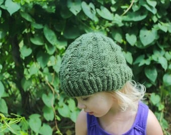 Kids cable knit beanie