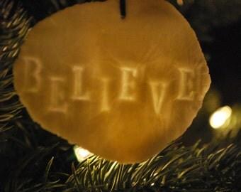 Porcelain Believe Ornament