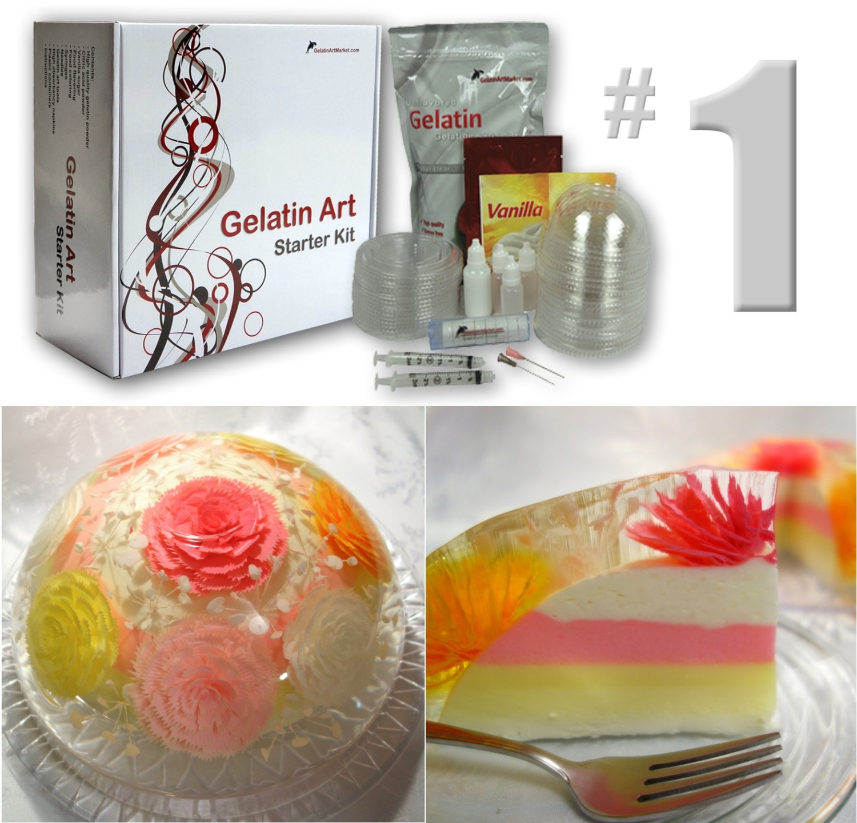 Gelatin Cake Art : Gelatin Art Starter Kit #1 from GelatinArtMarket on Etsy ...