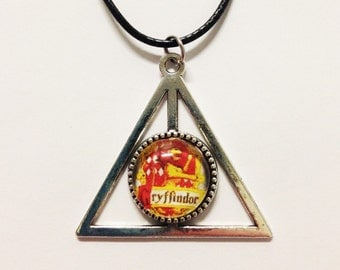 Deathly Hallows Gryffindor Harry Potter Necklace