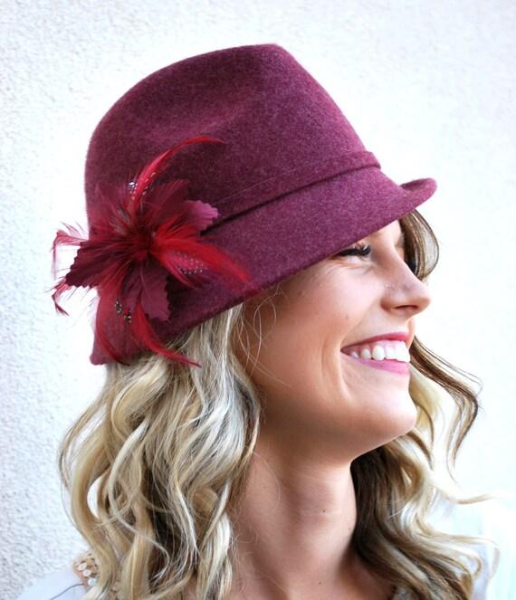 items similar to maroon fedora hat s fedora wool