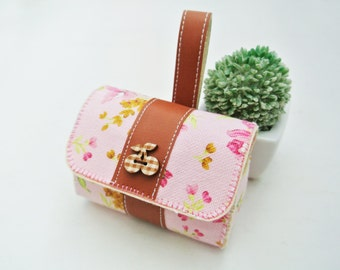 Morning Blossom Charger & Cable Storage Bag, Charger Holder, USB Cable Winder, Traveller Gadget Organizer, Magnetic Closure, Simplify Me