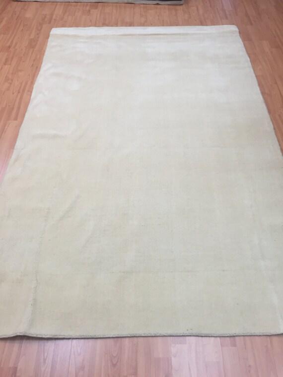 5' x 8' Indian Nepal Oriental Rug - Beige- Hand Made - 100% Wool