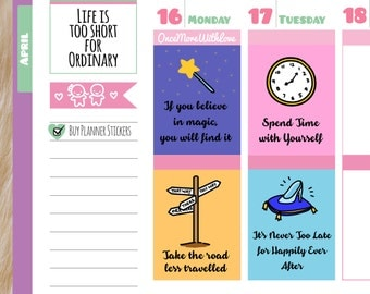 Things That Matter - Motivational Full Boxes with Quotes Planner Stickers