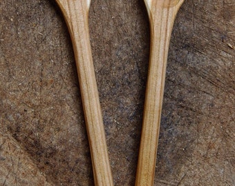 Cherry wood salad servers
