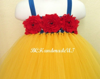 Snow white tutu dress, Snow white tutu, snow white dress, snow white costume, baby first birthday tutu dress, baby princess tutu dress