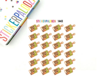 24 Meal Prep Stickers, Meal Prep Planner Stickers, 1443