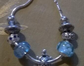 Bracelet style pandor @ blue