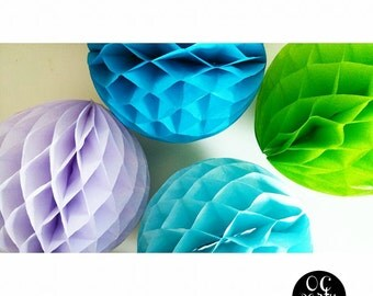 Honeycomb Balls- Mermaid Party-Hanging Honeycombs- 8 INCH