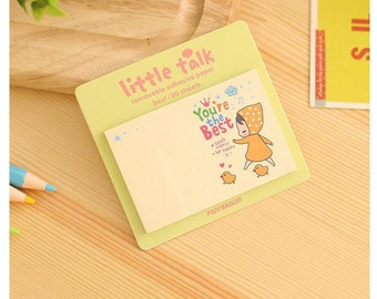 Little Talk - You're the Best / Mini Sticky Notes / Cute Sticky Notes / Kawaii Sticky Notes / Cute Notepad / Kawaii Notepad / Small Notes