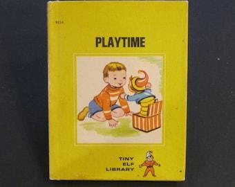 PLAYTIME  vintage Tiny Elf Library Book Jackie Hull Esther Friend 1968 hardback Vg!