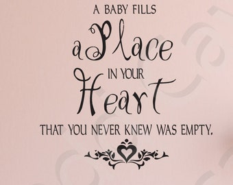 Fills A Place In Heart Vinyl Wall Decals Sticker Kids Playroom