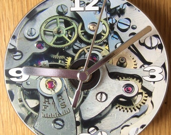 STEAM PUNK (Watch Movement) CD Clock (Can be Personalised)