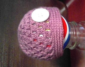 Lavender Beanie Baby size 0-6 months - crochet