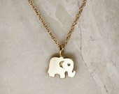 Elephant Pendant or Charm, 14k Solid Gold Elephant Pendant or Charm