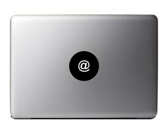 Macbook Decal - At Sign /  At Symbol Vinyl Sticker