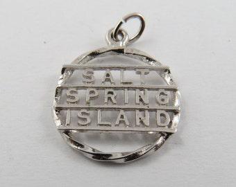 Salt Spring Island British Columbia Canada Sterling Silver Charm of Pendant.