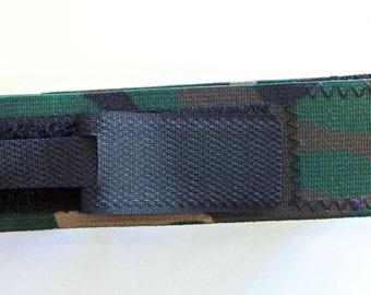 Green Camouflage Elastic Catheter Leg Strap