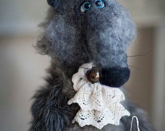 Wolf Simon in sheep's clothing Designer's soft Toy Hand Made to Order