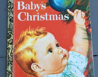 vintage Little Golden Book, Baby's Christmas, Eloise Wilkin, , #462-12, 1992 edition