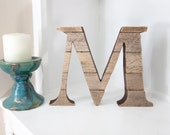 Wooden Wall Pallet Letter M | Rustic Wall Decor | Monogram Wood Letters | Handmade Pallet Art | Stand Alone or Free standing Decor